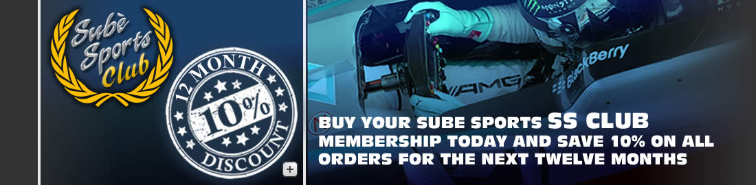 sube sports ss club 10% off racing products