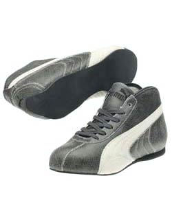 Puma Rennbahn 50 Black White Shoes