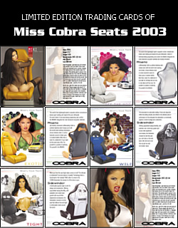 Sube Miss Cobra Seats 2K3 Card Set